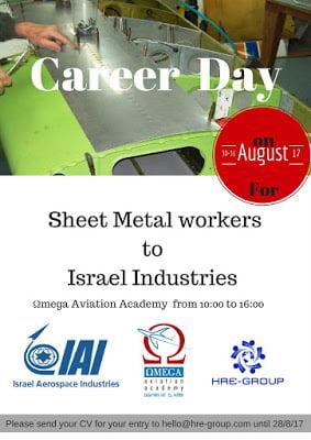 CAREER DAY  30-31 August 2017 ISRAEL INDUSTRIES